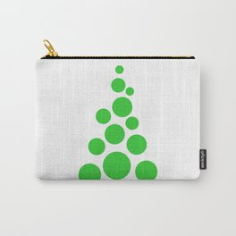 Unusual stylish Christmas tree on white background Carry-All Pouch