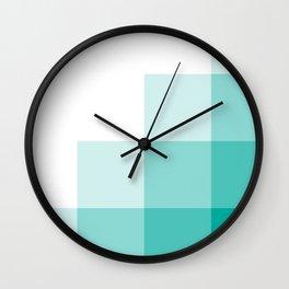 Blue Pixels Wall Clock