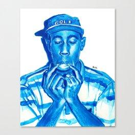 Tyler blue Canvas Print