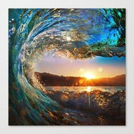 Beach - Waves - Ocean - Sun   Canvas Print