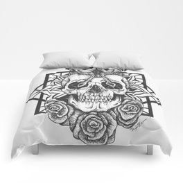 Skull and Roses Comforters