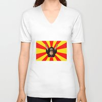 satan V-neck T-shirts featuring Mr Satan by husavendaczek