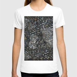 Seamless Pattern with Stars. Cosmic Background T-shirt