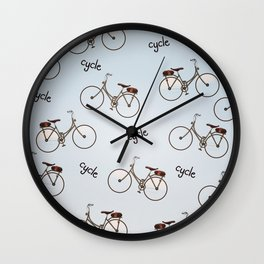 cycle biking poster pattern. Wall Clock