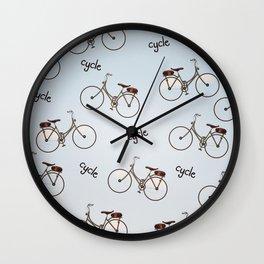 cycle biking poster pattern. Wall Clock