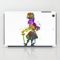 captain hook iPad Cases featuring Captain Hook in watercolor by Paulrommer