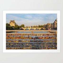 Love padlocks - Paris Art Print