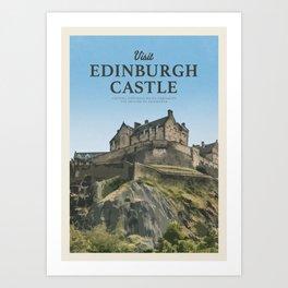 Visit Edinburgh Castle Art Print