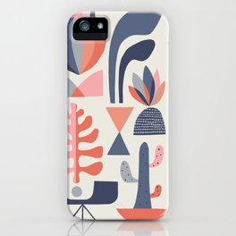 Mid century Succulents iPhone Case