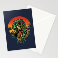Zombie T-Rex Stationery Cards