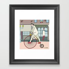 Steampunk Penny-Farthing Velocipedes Framed Art Print