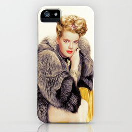 Janis Paige, Vintage Actress iPhone Case