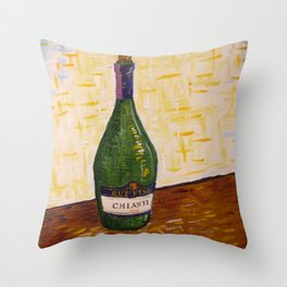 Still Life with Chianti Bottle Throw Pillow