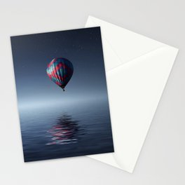 Hot Air Balloon Reflection Stationery Cards