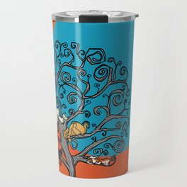 Cats under the blue moon Travel Mug