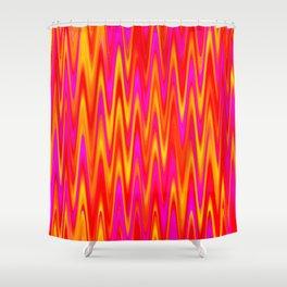 WAVY #1 (Reds, Oranges, Yellows & Fuchsias) Shower Curtain