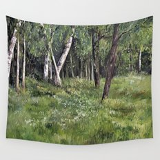 Woodland Forest Landscape Nature Art Wall Tapestry