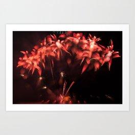 Fireworks - Philippines 3 Art Print