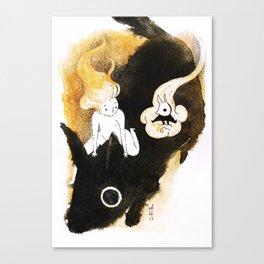 Boy and Spirit Canvas Print