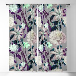 Flowery vintage pattern 0I Blackout Curtain