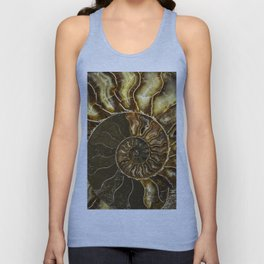 Earth treasures - Brown and yellow ammonite Unisex Tank Top