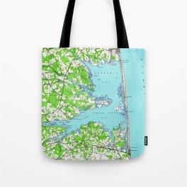 Vintage Rehoboth & Bethany Beach DE Map (1938) Tote Bag