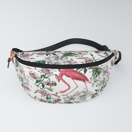 Vintage & Shabby Chic - Retro Flamingo and Lily Pattern Fanny Pack