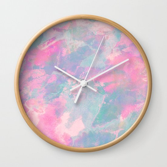 Pastel Sky Wall Clock By Georgiana Paraschiv Society6