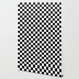 Black White Checker Wallpaper
