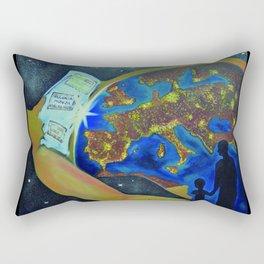 Reincarnation - lights of souls Rectangular Pillow