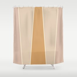 Hazelnut Color Block Shower Curtain