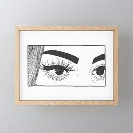 Staring Contest Framed Mini Art Print