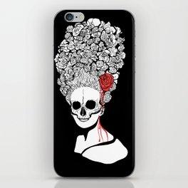 Skull and flower iPhone Skin