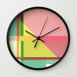 Green Line - pink graphic Wall Clock