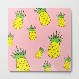 pineapple psych o Metal Print