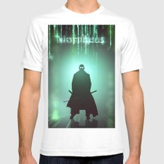 Morpheus MEDIUM White Mens Fitted Tee