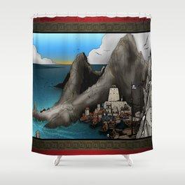 Lagott Island Shower Curtain