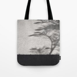 Grey Tree Branch Shadows and Texture Tote Bag