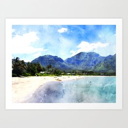hawaii-beach-paradise-tropical Art Print