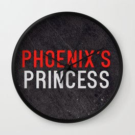Phoenix's Princess Wall Clock