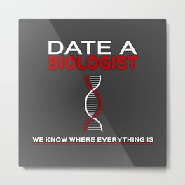 Biologists: We know where everything is Metal Print