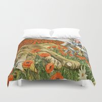 oz Duvet Covers featuring Poppies Wizard of Oz by PaperMacheDreamsPhotography