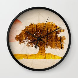 natural paper Wall Clock