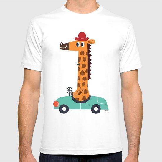giraffe driver T-shirt
