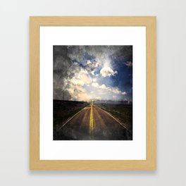 Route Framed Art Print