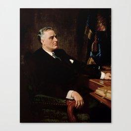 FDR Official Portrait Canvas Print