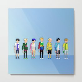 GOT7 8-bit Just Right Metal Print