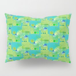 Trucks Wheels and Swirls Pillow Sham