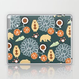 Bikes, bears and flowers Laptop & iPad Skin