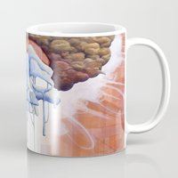 hippy Mugs featuring Drippy Hippy by Brian DeYoung Illustration